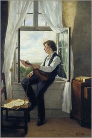 Otto Franz Scholderer - The violinist at the window in 1861