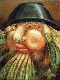 Giuseppe Arcimboldo - The Vegetable Gardener or a Joke with Vegetables