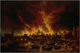 Lieve Verschuier - The Great Fire of London in 1666