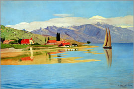 Felix Edouard Vallotton - The port of Pully