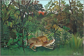 Henri Rousseau - The hungry lion