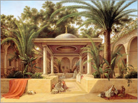 Grigory Tchernezov - The Kabanija Fountain in Cairo
