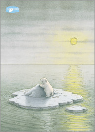 The Little Polar Bear on the ice floe