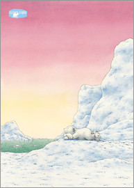 The Little Polar Bear while thinking