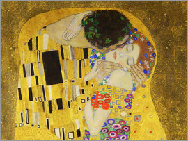 Gustav Klimt - The kiss (detail)