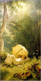 Carl Spitzweg - The Painter (A Rest in the Woods)