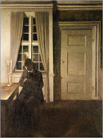 Vilhelm Hammershoi - The Collector of Coins