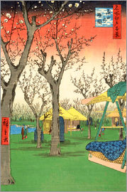 Utagawa Hiroshige - The Plum Garden at Kamata
