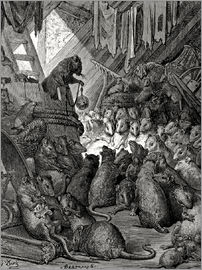 Gustave Doré - The council of the rats