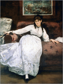 Edouard Manet - The rest or Portrait of Berthe Morisot