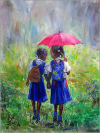 Jonathan Guy-Gladding - magenta umbrella