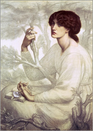 Dante Charles Gabriel Rossetti - The Day Dream, study