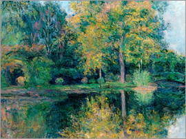 Blanche Hoschede-Monet - The pond of Claude Monet's garden