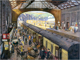 Stanhope Alexander Forbes - The Terminus, Penzance Station, Cornwall
