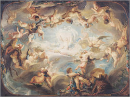Gabriel de Saint-Aubin - The Triumph of Cupid over all the Gods