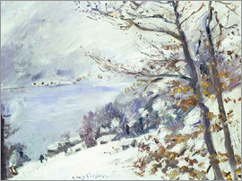 Lovis Corinth - The Walchensee in winter