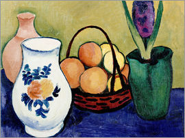 August Macke - The White Jug with Flower and Fruit