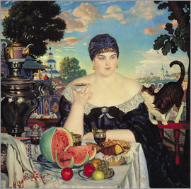 Boris Mihajlovic Kustodiev - The Merchant's Wife at Tea