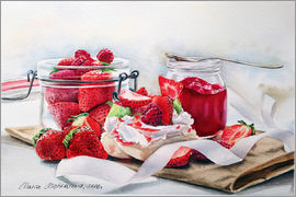 Maria Mishkareva - dessert Pavlova with strawberries