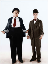 Laurel & Hardy with empty pockets