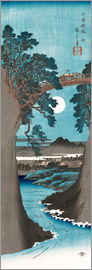 Utagawa Hiroshige - The Monkey Bridge in Kai Province