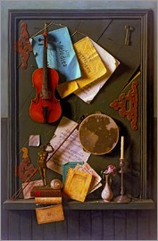 William Michael Harnett - The Old Cupboard Door