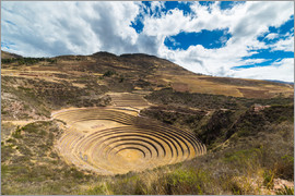Fabio Lamanna - The archaeological site at Moray, travel destination in Cusco region and the Sacred Valley, Peru.