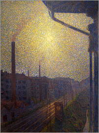 Luigi Russolo - The railway line