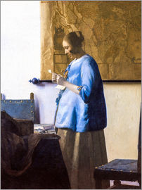 Jan Vermeer - Woman Reading a Letter