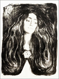 Edvard Munch - The brooch, Eva Mudocci