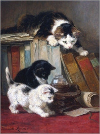 Henriette Ronner-Knip - Watch the lizard