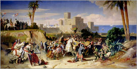 Alexandre-Jean-Baptiste Hesse - The Taking of Beirut by the Crusaders in 1197