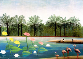 Henri Rousseau - The Flamingos