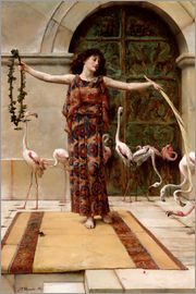 John Reinhard Weguelin - The woman with the pink flamingos