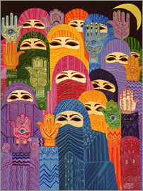 Laila Shawa - The Hands of Fatima, 1989