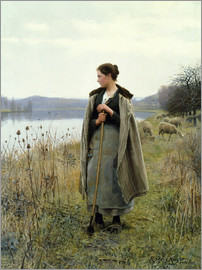 Daniel Ridgway Knight - The Shepherdess of Rolleboise