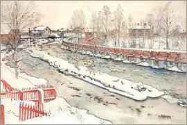 Carl Larsson - The Timber Chute, Winter Scene