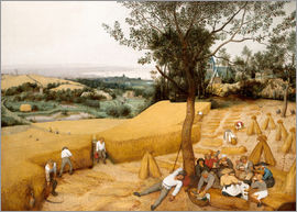 Pieter Brueghel d.Ä. - The seasons: grain harvest