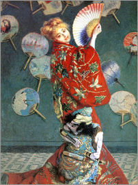 Claude Monet - The Japanese (Camille, Japanese dressed)