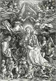 Albrecht Dürer - The Virgin and Child surrounded by angels