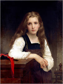 William Adolphe Bouguereau - The small spinner