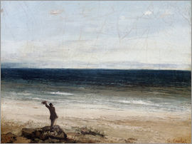 Gustave Courbet - The Seashore at Palavas. 1854
