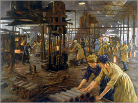 Stanhope Alexander Forbes - 'The Munitions Girls' oil painting, England, 1918 Wellcome L0059548