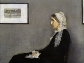 James Abbott McNeill Whistler - The Artist's Mother, detail