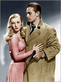 THIS GUN FOR HIRE, from left: Veronica Lake, Alan Ladd, 1942