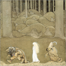 John Bauer - The Princess and the Trolls