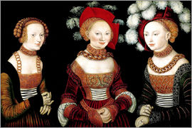 Lucas Cranach d.Ä. - The princesses Sibylla, Emilia and Sidonia of Saxony