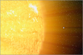 Stocktrek Images - The relative sizes of the Sun and the Earth