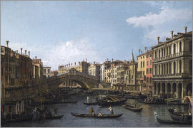 Antonio Canaletto - The Rialto Bridge, Venice