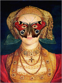 The butterfly mask (by Hans Holbein)